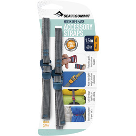 Sea to Summit Hook Release Accessory Straps 10mm/1,5m, grijs